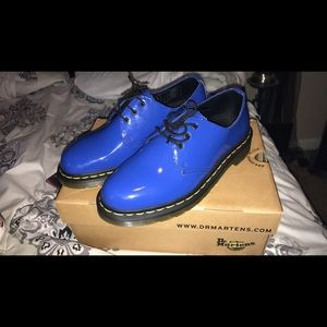 Dr Marten size women's 6 indigo blue shoes
